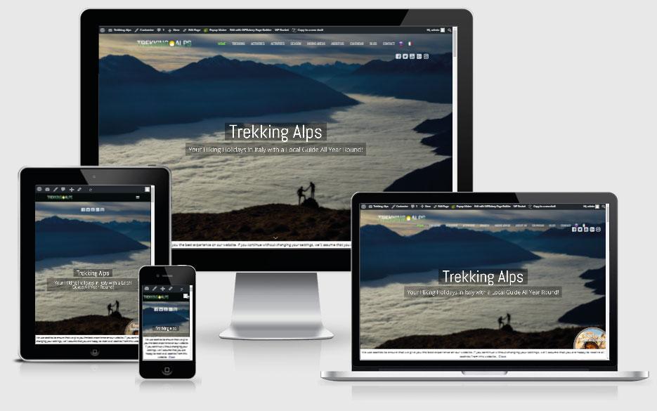 trekking alps portfolio image