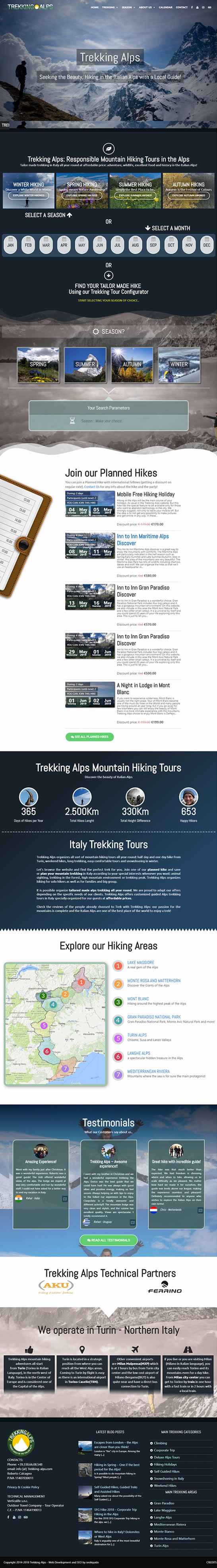 affordable web desing - trekking alps website