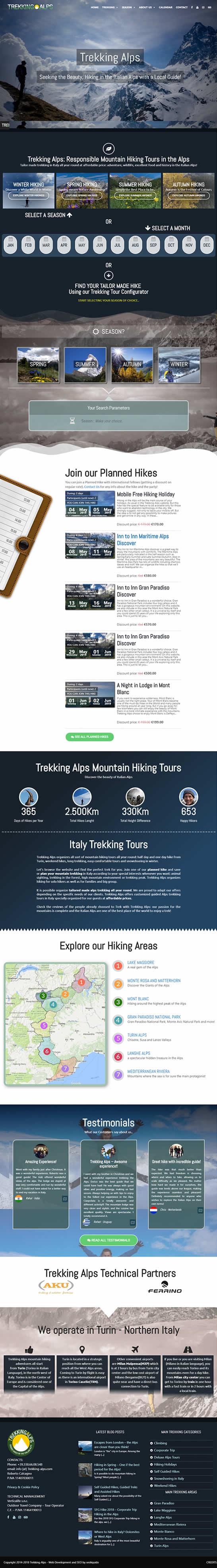affordable web desing - trekking alps website